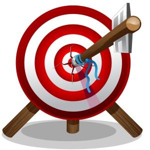 arrow on target 300x300 あなたは大丈夫?ほとんどの人はダイエット目標の設定から間違いだらけ